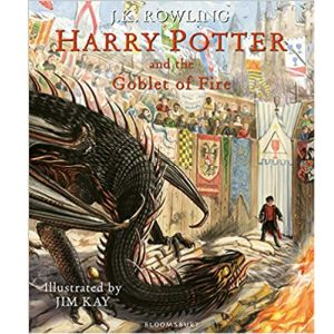 Cover image for Harry Potter and the Goblet of Fire by J K Rowling, illustrated by Jim Kay