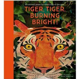 Cover image for poetry anthology Tiger, Tiger, Burning Bright! edited by Fiona Waters and illustrated by Britta Teckentrup